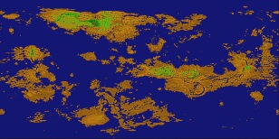 Terraforming images on map of a, map of all, map or,
